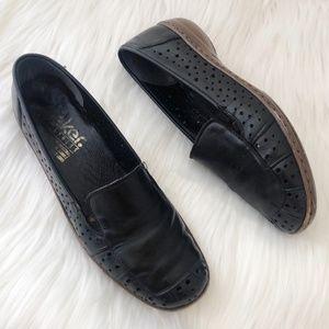 Rieker AntiStress Black Leather Slip-On Loafers 39